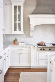 Awesome White And Clear Kitchen Design Ideas 22