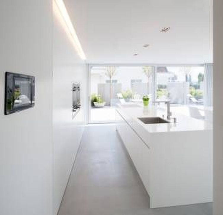 Awesome White And Clear Kitchen Design Ideas 27