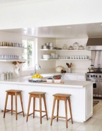 Awesome White And Clear Kitchen Design Ideas 43