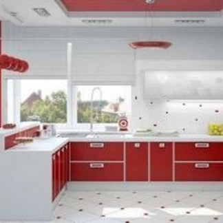 Cozy Red Kitchen Wall Decoration Ideas For You 05