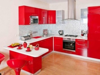 Cozy Red Kitchen Wall Decoration Ideas For You 07