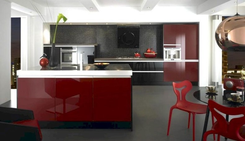 Cozy Red Kitchen Wall Decoration Ideas For You 12