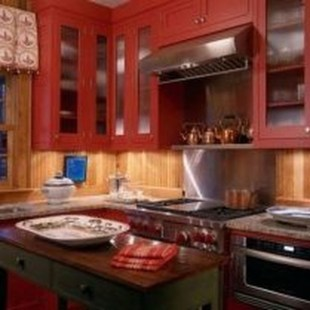 Cozy Red Kitchen Wall Decoration Ideas For You 34