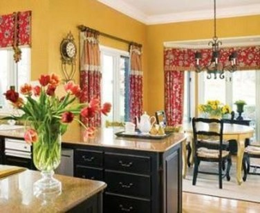 Cozy Red Kitchen Wall Decoration Ideas For You 36