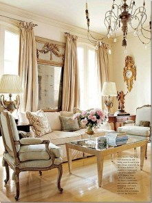 Inspiring French Living Room Decorating Ideas 29