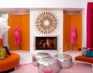 Relaxing Living Room Design Ideas With Orange Color Themes 05