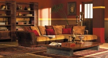 Relaxing Living Room Design Ideas With Orange Color Themes 10