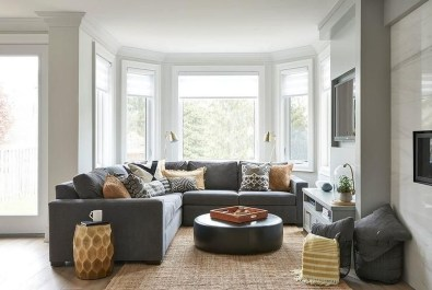 Relaxing Living Room Design Ideas With Orange Color Themes 19
