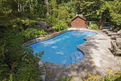 Comfy Backyard Designs Ideas With Swimming Pool Looks Cool 35
