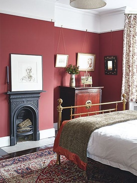 Comfy Red Bedroom Decorating Ideas For You 08