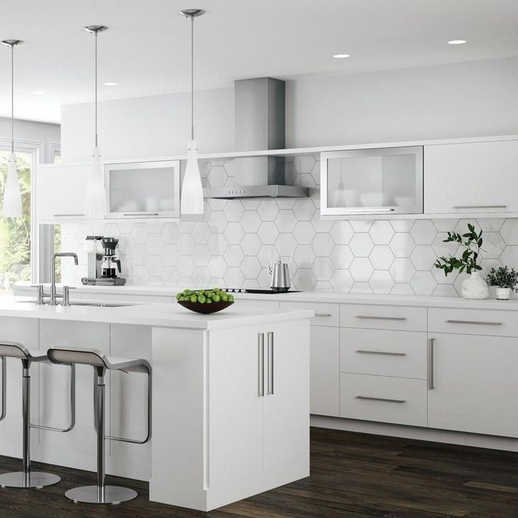 Fancy Painted Kitchen Cabinets Design Ideas With Two Tone 08