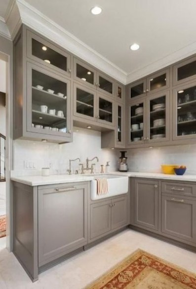 Fancy Painted Kitchen Cabinets Design Ideas With Two Tone 12