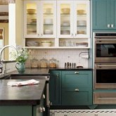 Fancy Painted Kitchen Cabinets Design Ideas With Two Tone 14