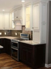 Fancy Painted Kitchen Cabinets Design Ideas With Two Tone 19