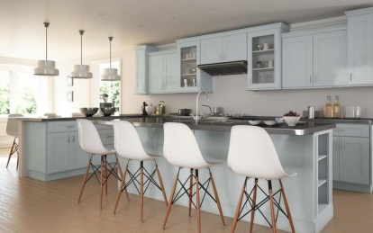 Fancy Painted Kitchen Cabinets Design Ideas With Two Tone 21