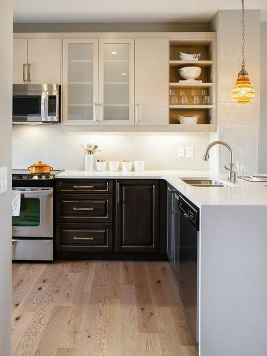 Fancy Painted Kitchen Cabinets Design Ideas With Two Tone 24