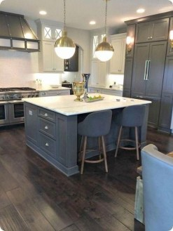Fancy Painted Kitchen Cabinets Design Ideas With Two Tone 40