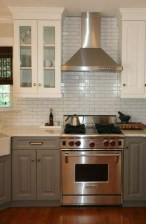 Fancy Painted Kitchen Cabinets Design Ideas With Two Tone 42