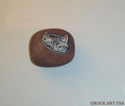 Glamour Diy Painted Rocks Animals Cats Ideas For Summer 36