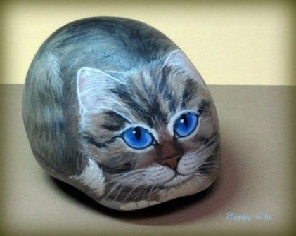Glamour Diy Painted Rocks Animals Cats Ideas For Summer 37
