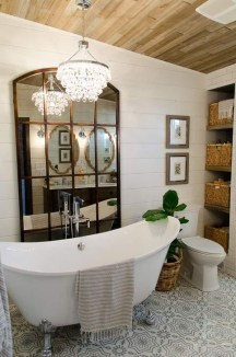 Lovely Farmhouse Bathroom Makeover Ideas To Try Right Now 01