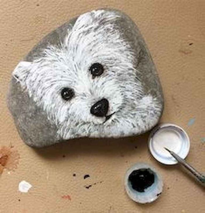 Splendid Diy Projects Painted Rocks Animals Dogs Ideas For Summer 45
