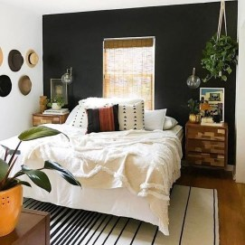 Delightful Bedroom Designs Ideas With Dark Wall That Breaks The Monotony 05