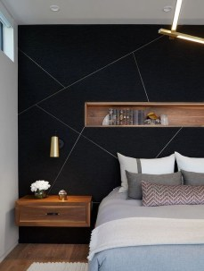 Delightful Bedroom Designs Ideas With Dark Wall That Breaks The Monotony 11