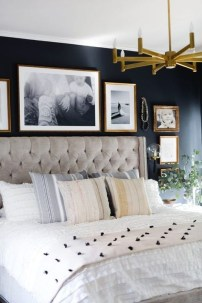 Delightful Bedroom Designs Ideas With Dark Wall That Breaks The Monotony 13