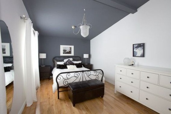 Delightful Bedroom Designs Ideas With Dark Wall That Breaks The Monotony 24