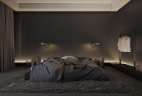 Delightful Bedroom Designs Ideas With Dark Wall That Breaks The Monotony 36