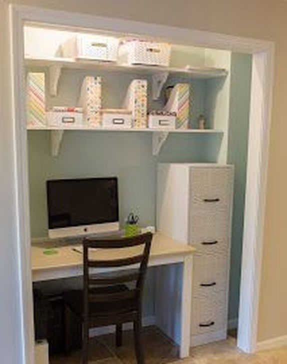Outstanding Mini Office Design Ideas In The Living Room 08