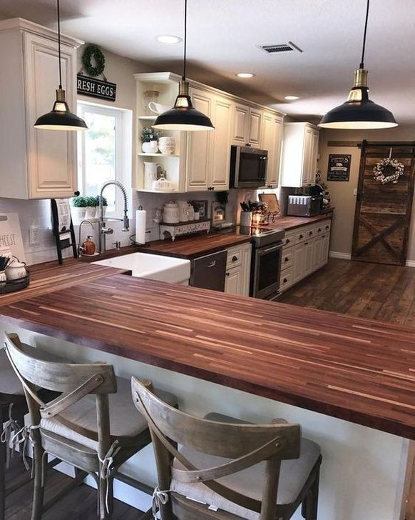 Classy Farmhouse Kitchen Cabinets Design Ideas To Copy 38