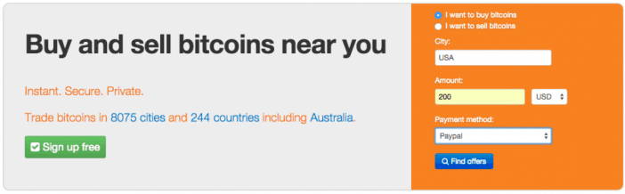Local Bitcoins search