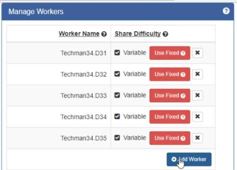 Worker list