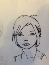 Practicing faces & inking