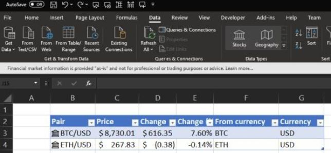 Microsoft adiciona símbolo Bitcoin no Excel