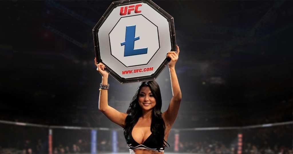 Lutador do UFC patrocinado pelo Litecoin comemora alta da criptomoeda