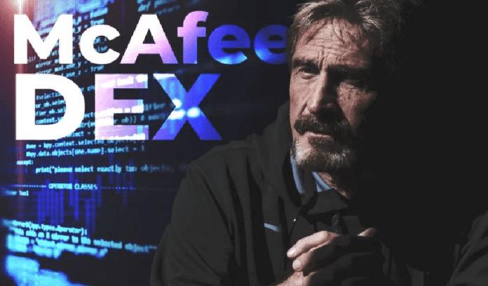 Exchange de Criptomoedas de John McAfee em execução