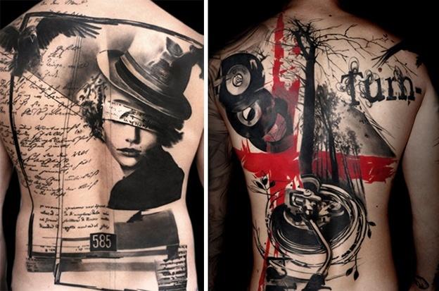 Стили татуировок - реалистичная трэш-полька