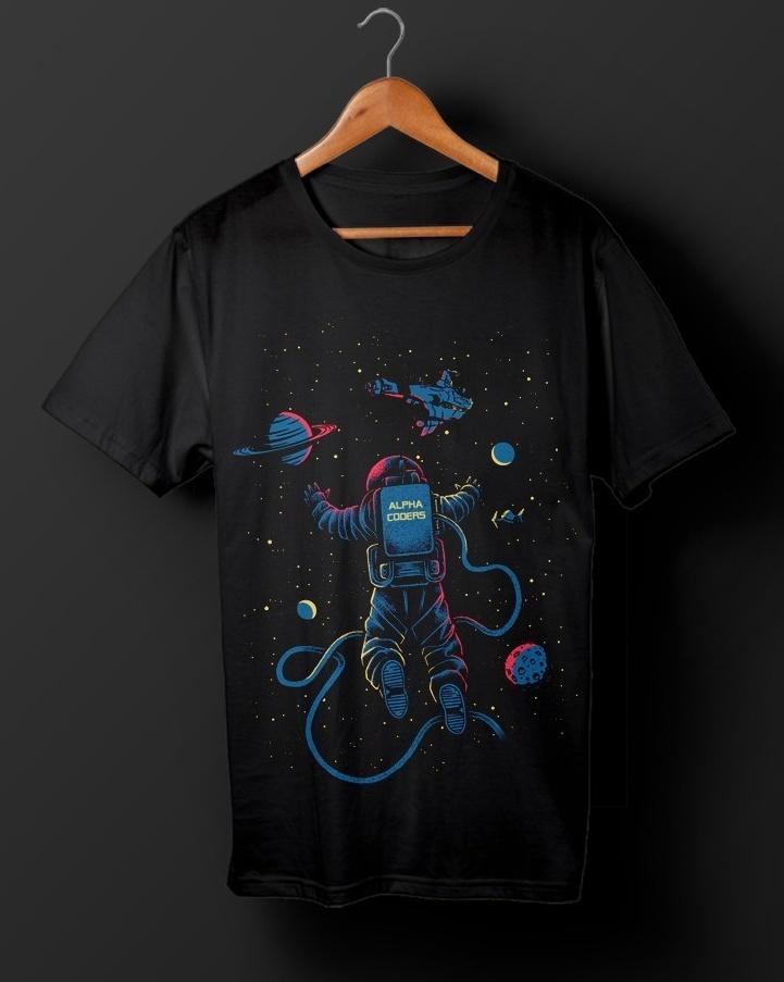 Astronaut t-shirt illustration