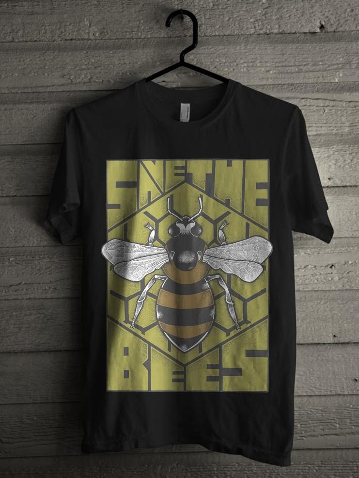 T-shirt illustration featuring geometric typography