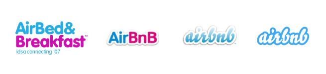 Airbnb evolving logos