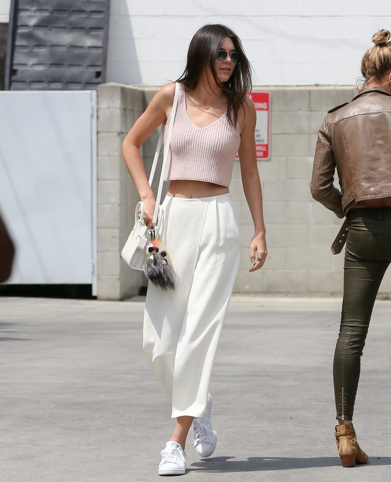 Kendall Jenner wearing Stan Smith