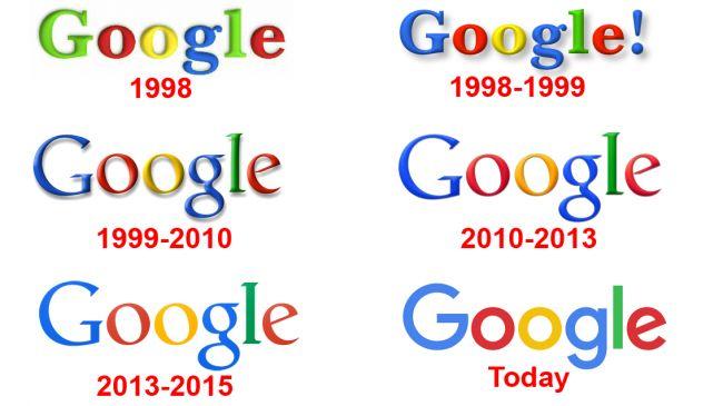 Google's different logos