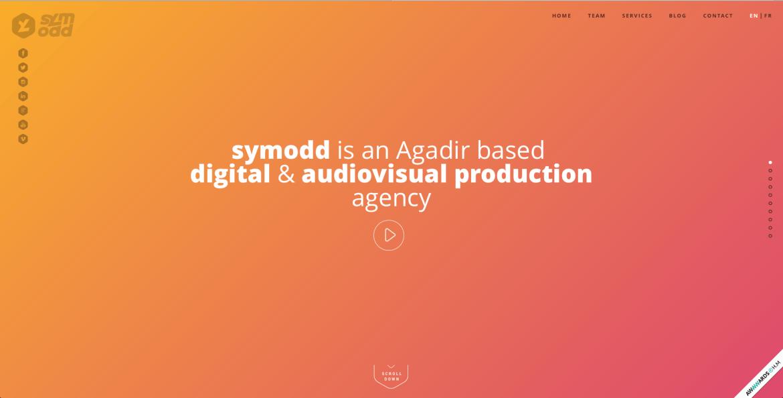 L'image d'en-tête de la page d'accueil de symodd