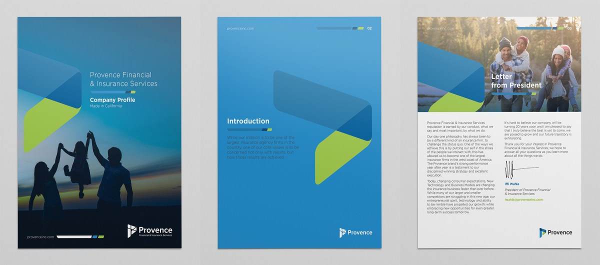 types of graphic design example: marketing material design