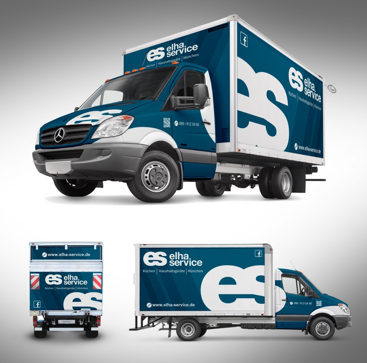 types of graphic design example: truck ad design