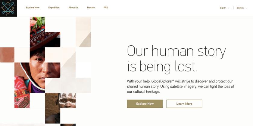 GlobalXplorer web design