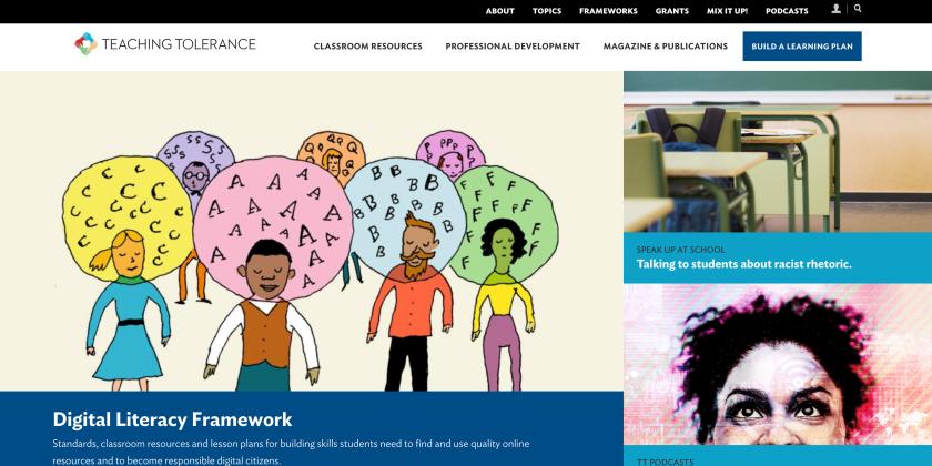 tolerance.org web design